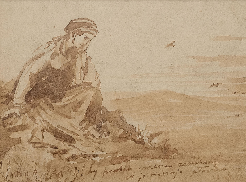 Zamyślona dziewczyna, ok. 1879 r.