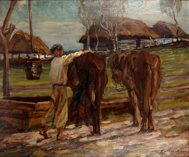 U wodopoju, 1922 r.