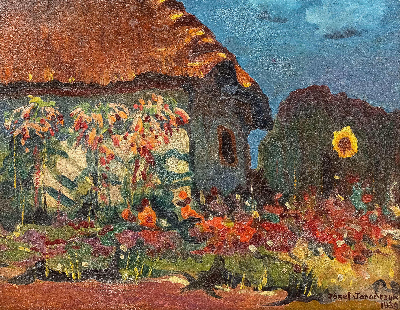Pejzaż z chatą i słonecznikiem, 1939 r.