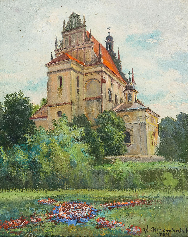 Widok na Farę w Kazimierzu, 1954 r.