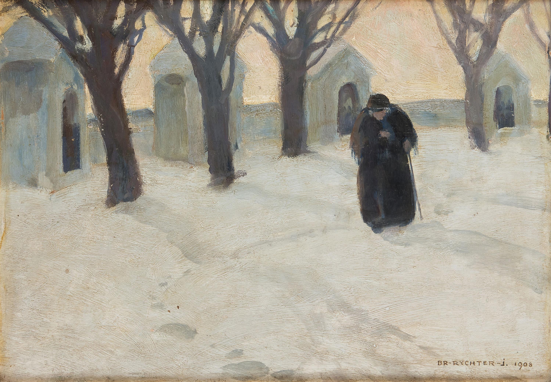 Kapliczki w śniegu, 1908 r.