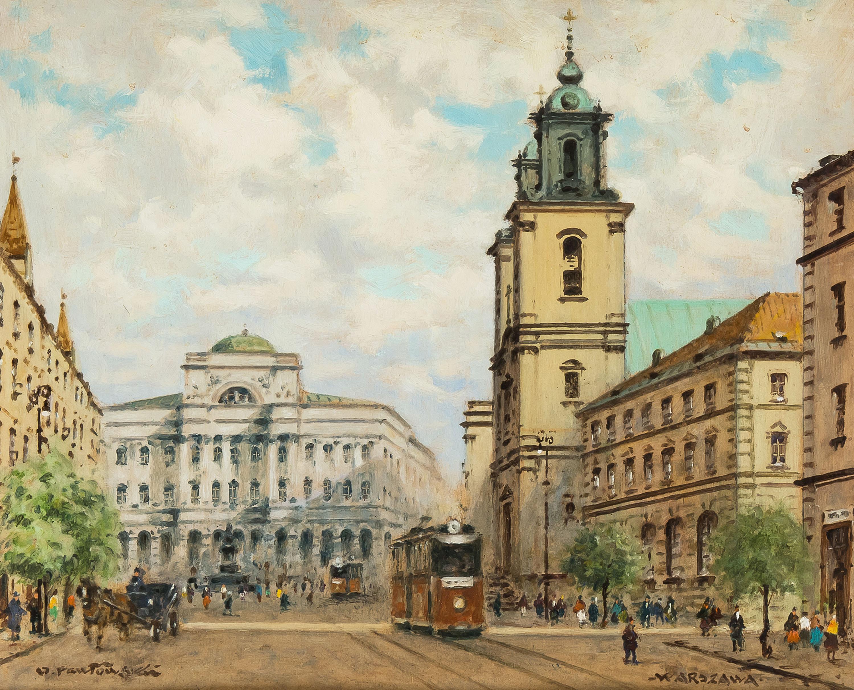 Widok na Pałac Staszica na Krakowskim Przedmieściu