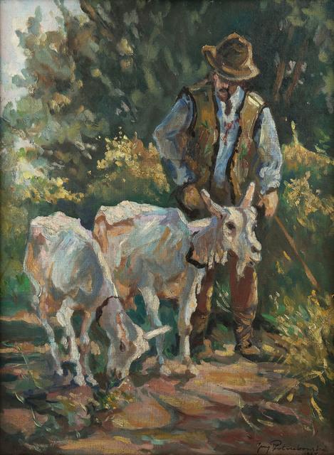 Góral z kozami, 1947 r.