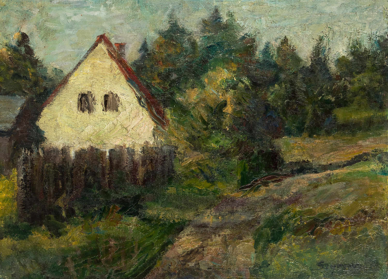 Pejzaż z Rydzewa, 1957 r.