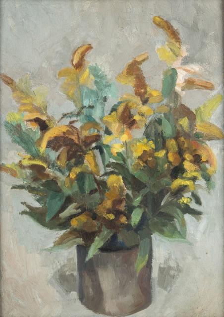 Żółte kwiaty w donicy