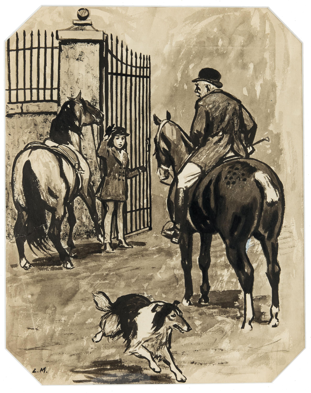 Ilustracja do Lassie, wróć!