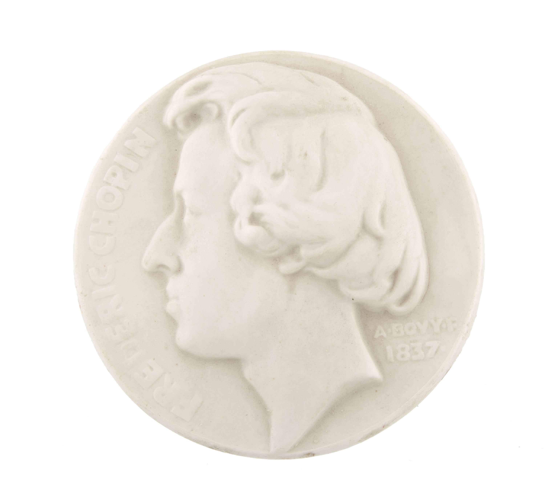 Plakieta z wizerunkiem Fryderyka Chopina, Polska, ok. poł. XX w.