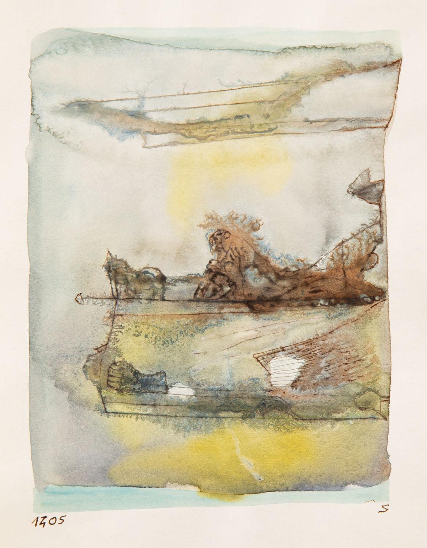 Bez tytułu (kompozycja niebiesko-żółto-szara), ok. 1965