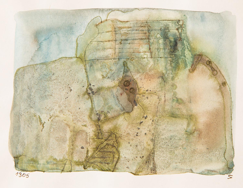 Bez tytułu (kompozycja niebiesko-zielona), około 1965