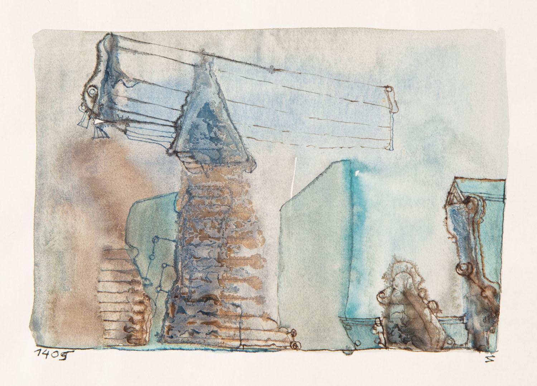 Bez tytułu (kompozycja zielono-niebieska), około 1965