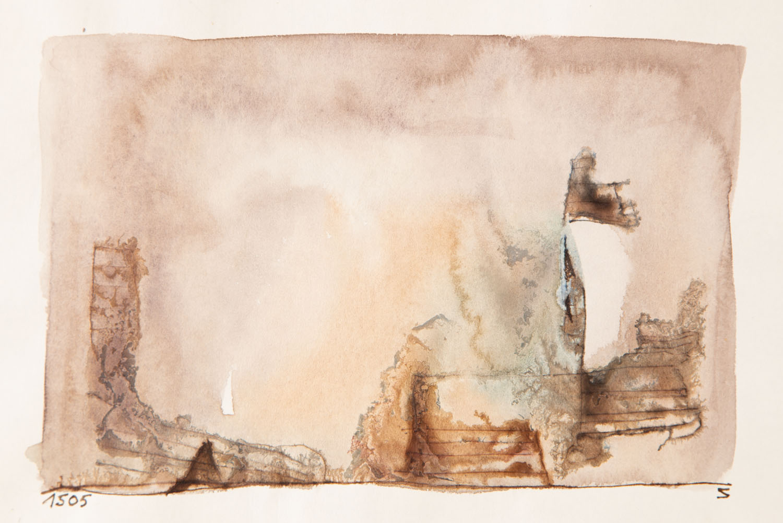 Bez tytułu (kompozycja brunatna) , około 1965
