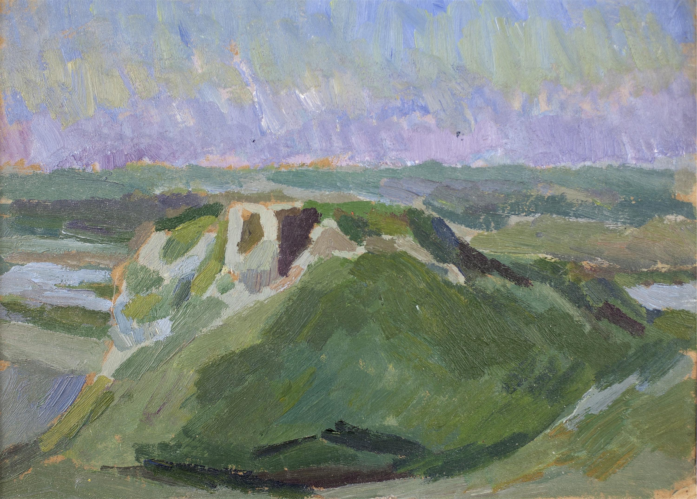 Pejzaż z ruinami zamku – Czorsztyn?, ok. 1910