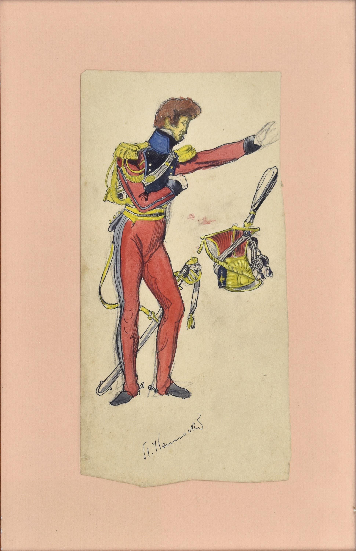 Umundurowanie oficera armii napoleońskiej, ok. 1894
