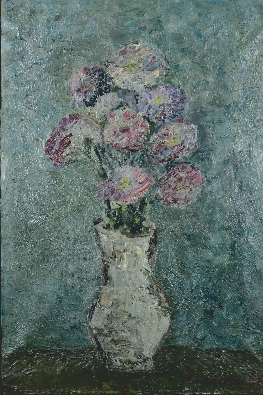 Kwiaty w wazonie, 1958