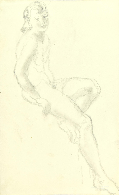 Akt siedzącej kobiety, 1941