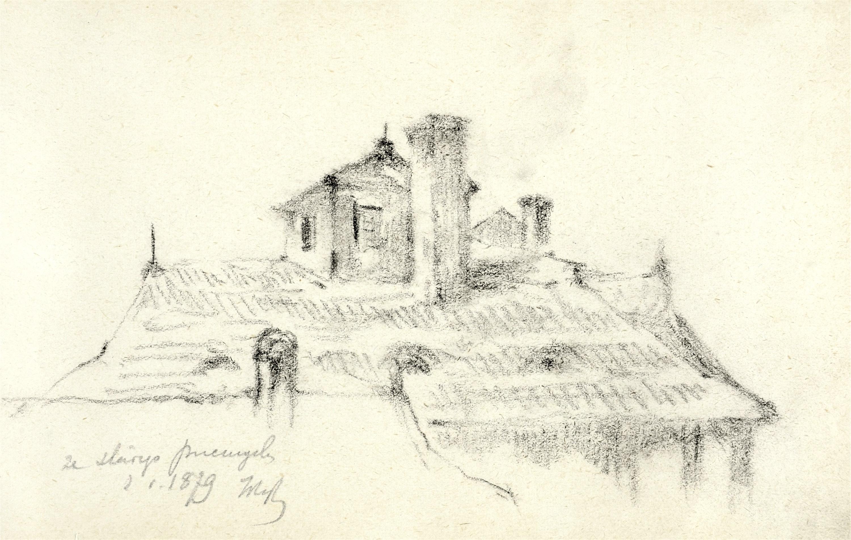Fragment zabudowań starego Przemyśla, 1879