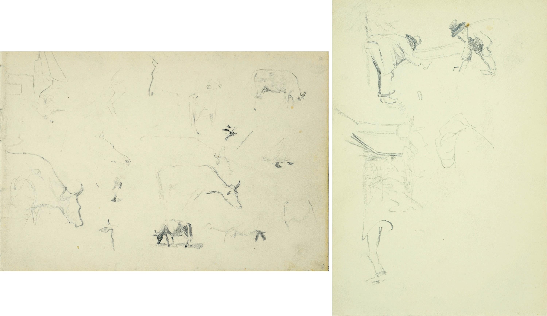 Szkice pasącej się krowy, 1907