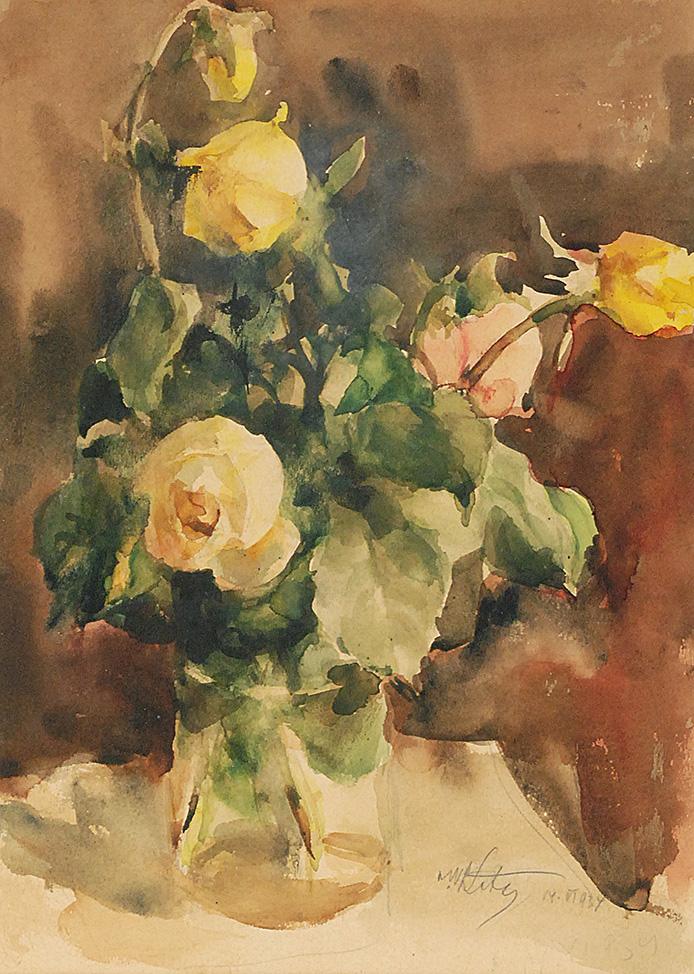 Róże w wazonie, 1934