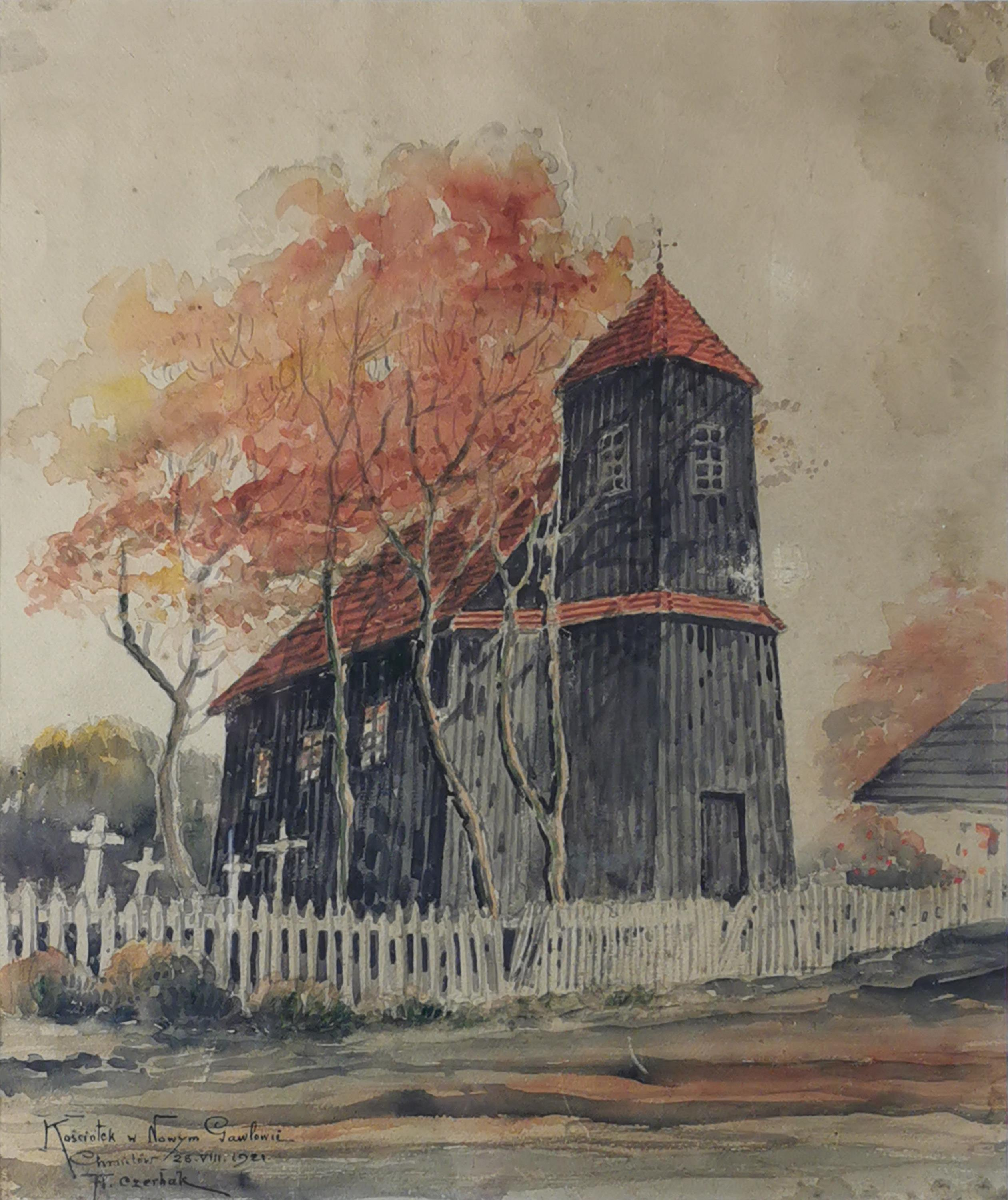 Kościółek w Nowym Gawłowie, 1921