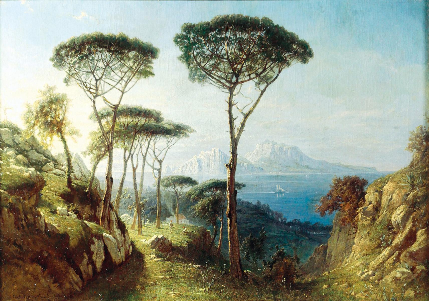 Pejzaż z piniami, 1865