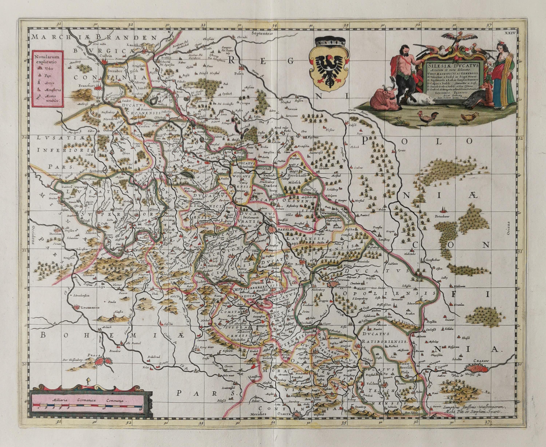Mapa Śląska - Silesiae Ducatus