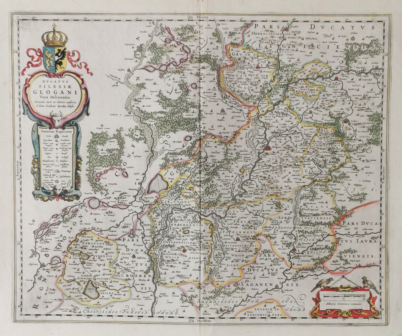 Mapa Księstwa Głogowskiego