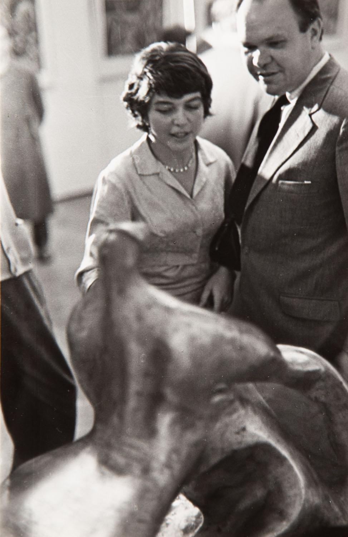 Alina Szapocznikow i Aleksander Kobzdej, 1957