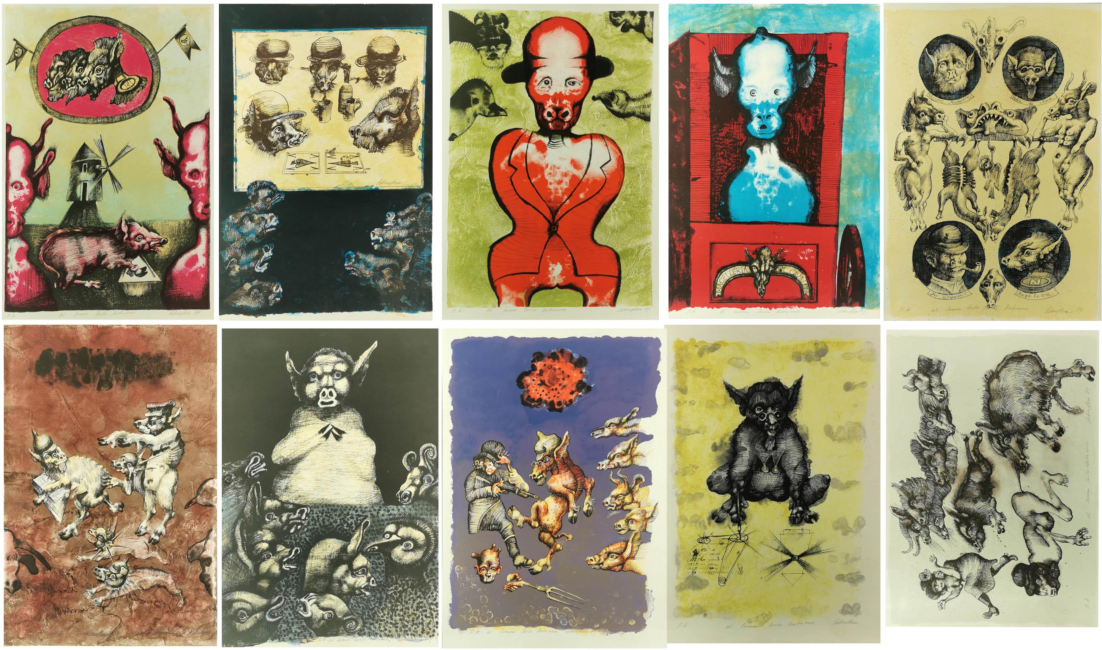 Folwark zwierzęcy - teka 10 grafik, 1974