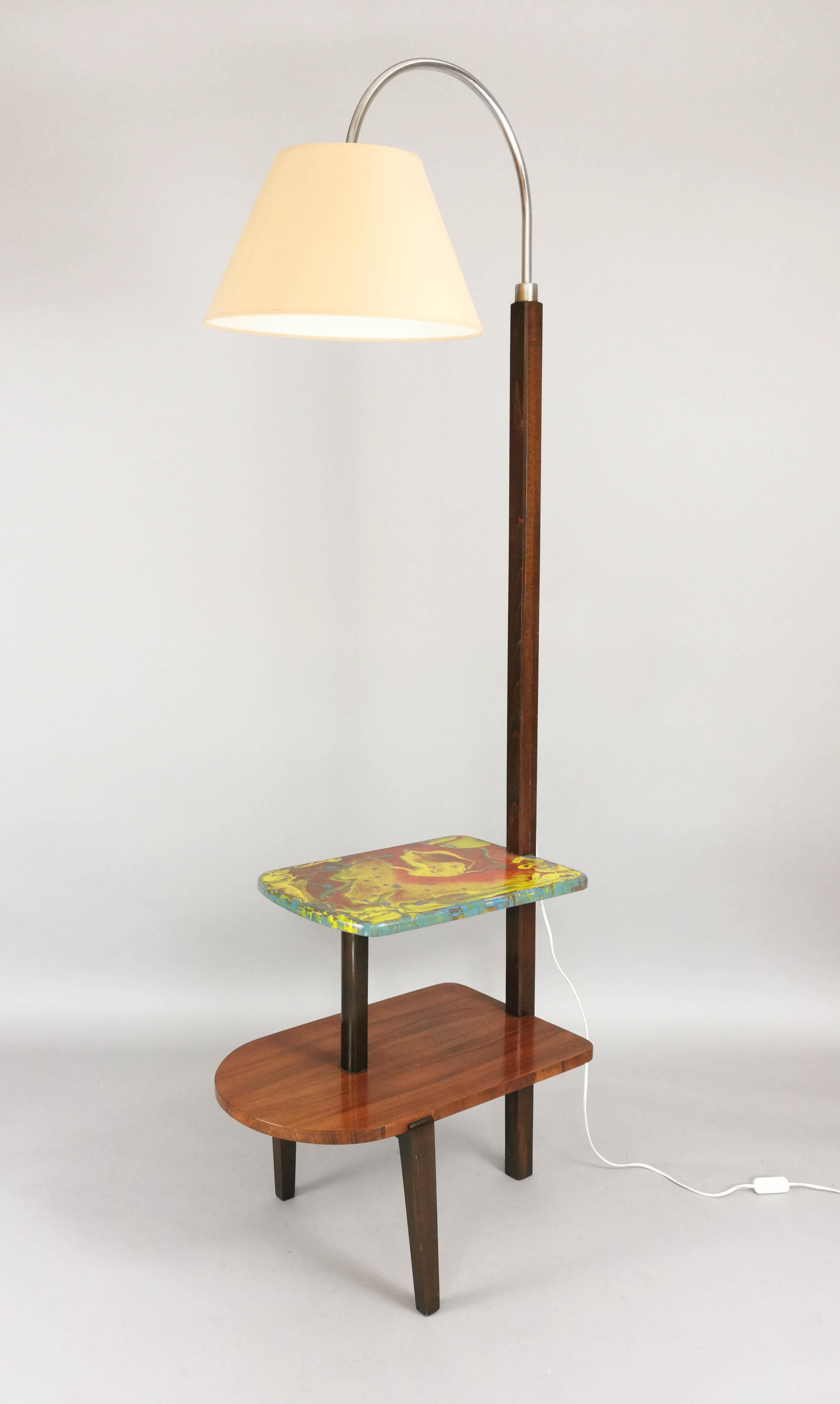 Stolik - lampa w stylu art déco