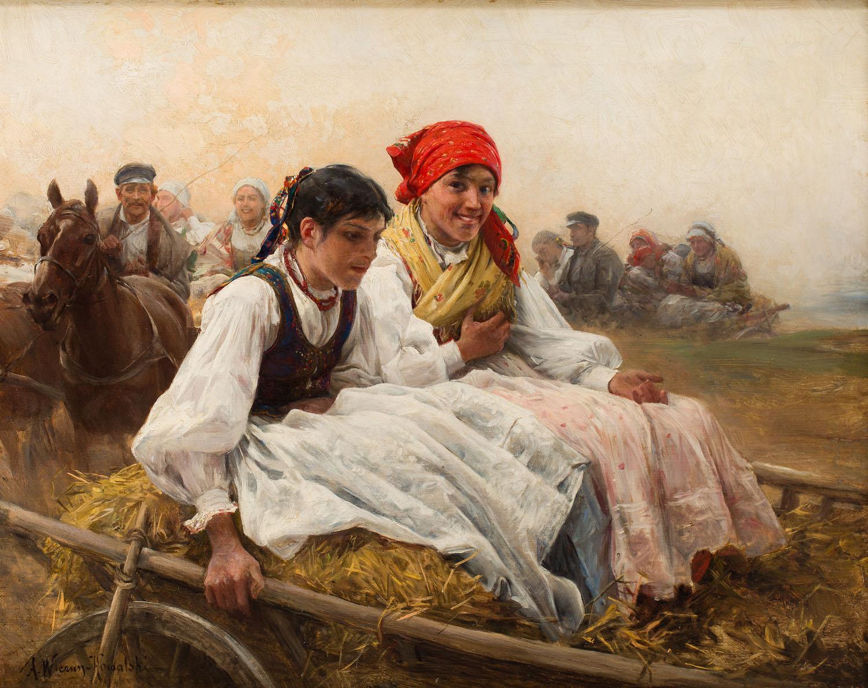 """""""Niedzielny poranek"""", około 1900"""