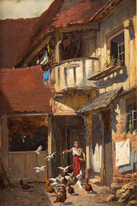 Rzymskie podwórko, przed 1886
