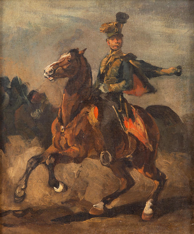 """""""Huzar na gniadym koniu"""", około 1837"""