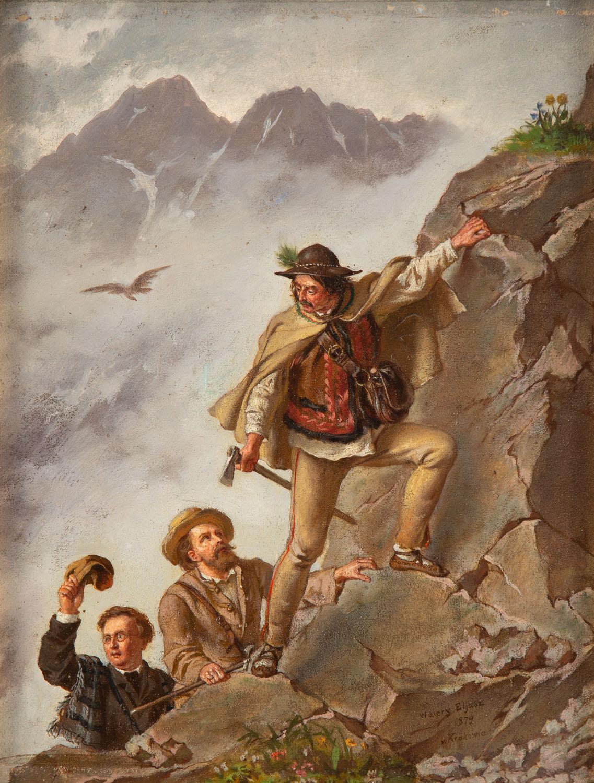 """""""Przewodnik i turyści w Tatrach"""", 1879"""