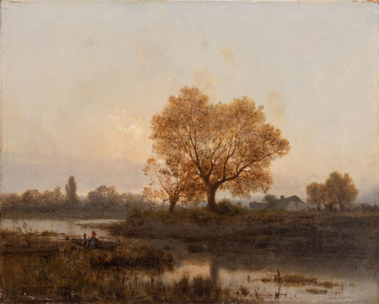 Pejzaż wieczorny, 1874