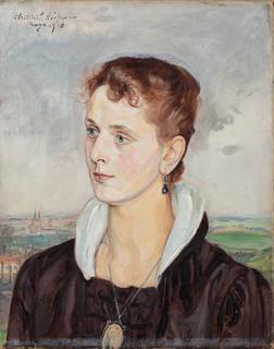 Portret pani z medalionem (Portret Ady Hammer), 1916