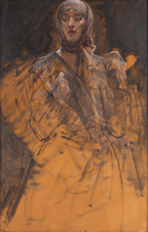 Portret żony artysty - szkic, około 1910
