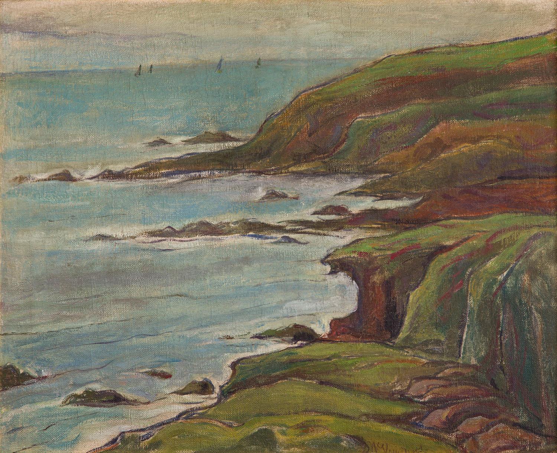 """""""Skalisty brzeg oceanu w Bretanii"""", przed 1905"""