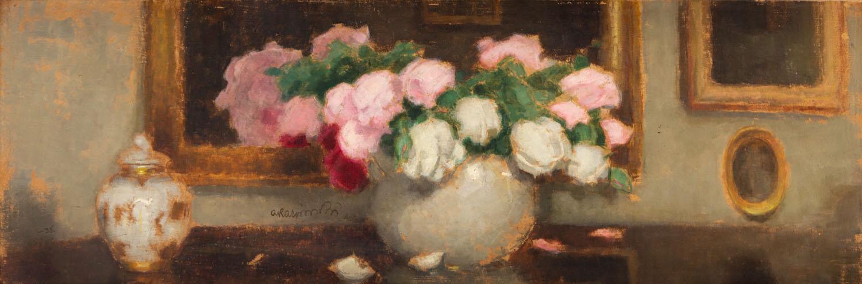 Martwa natura z bukietem róż, 1936