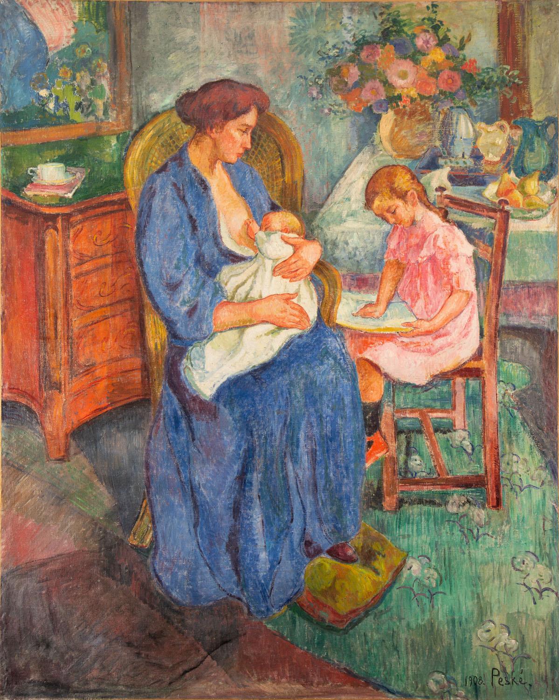 """""""Matka z dziećmi"""" (""""Mère et enfants""""), 1908"""