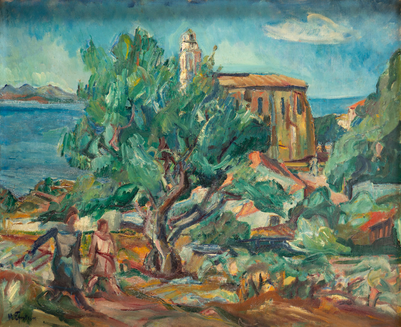 """""""Kościół w Cargèse, Korsyka"""" (Église de Cargèse, Corse""""), 1926"""