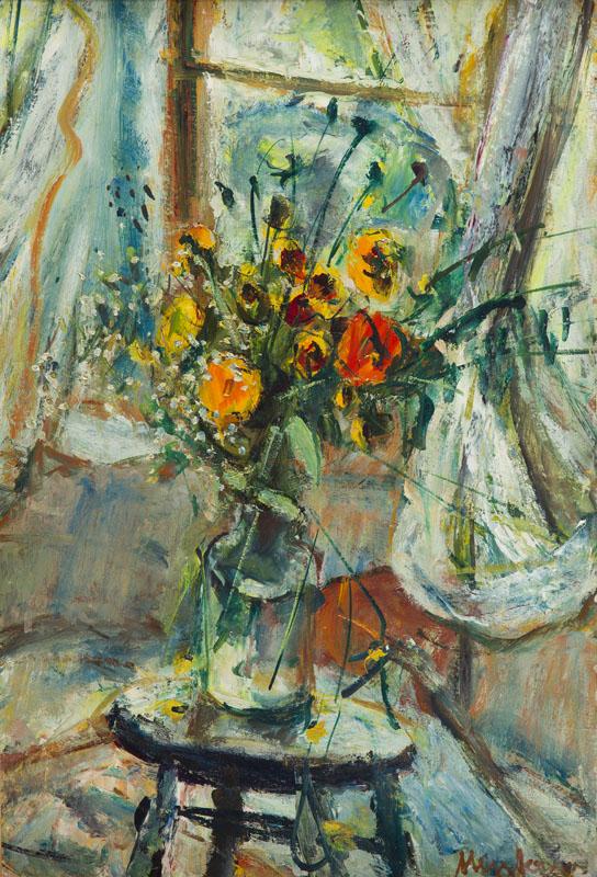 Martwa natura z bukietem kwiatów, przed 1948