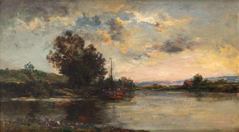 Łódź na rzece, 1884