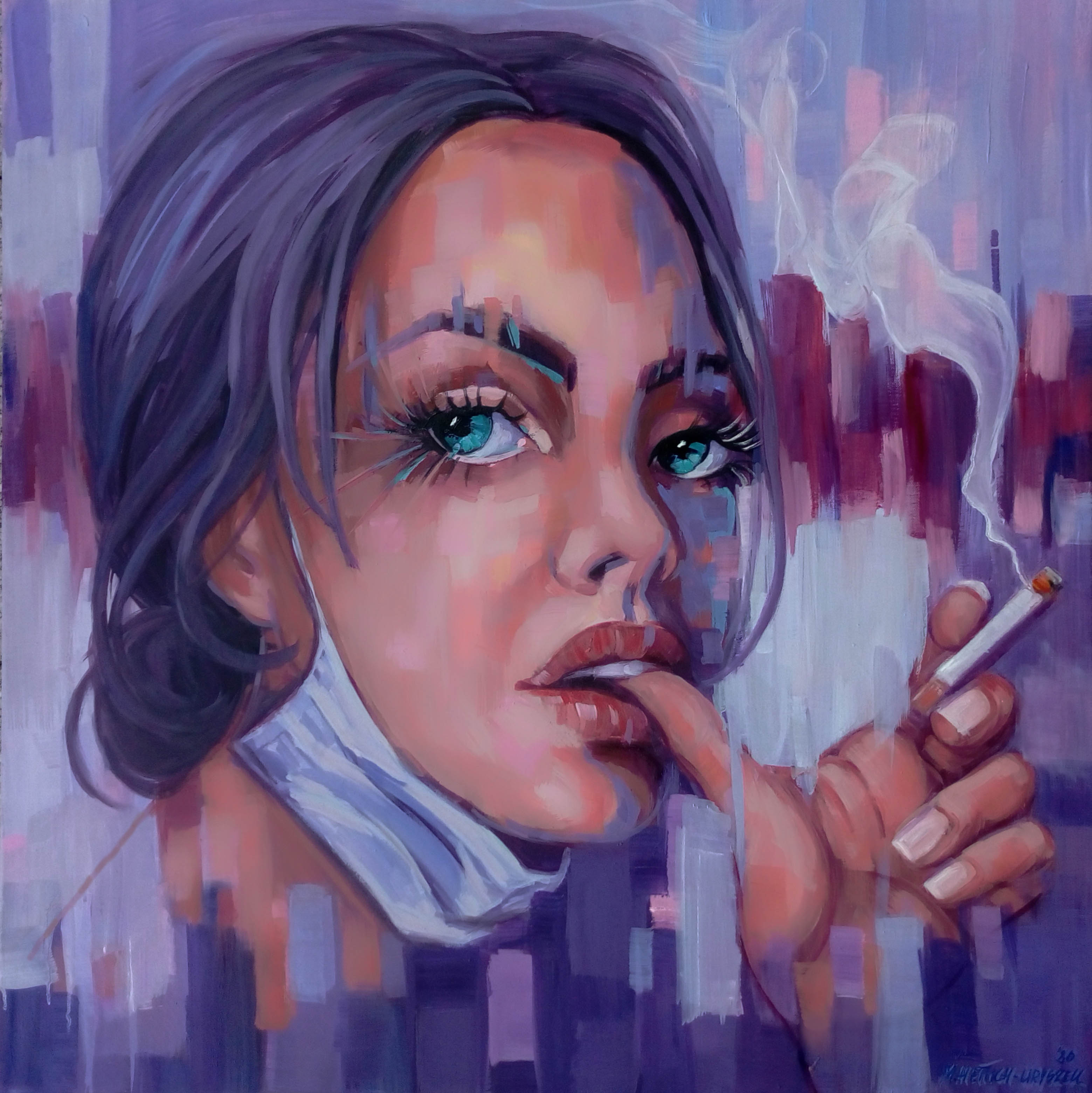 Girl With a Cigarette, 2020