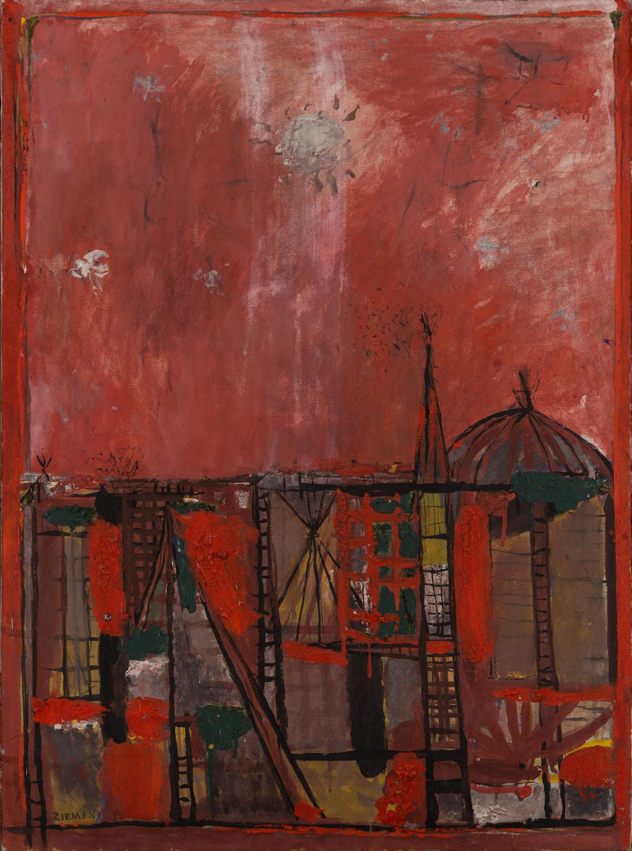 Widok miasta, 1957