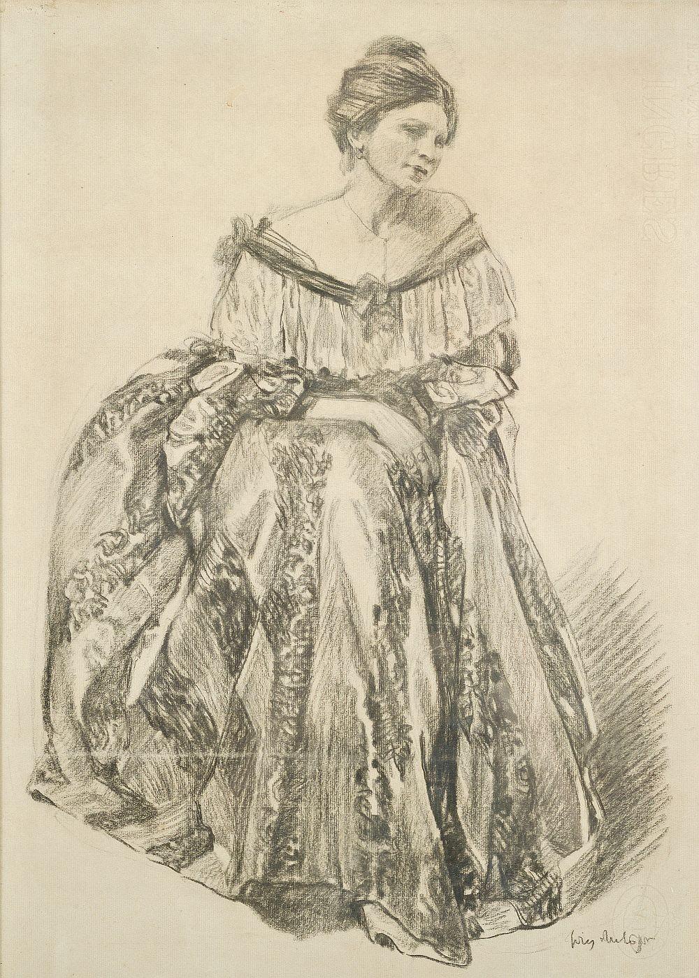 Portret żony - Jadwigi Mehofferowej, 1915-1923