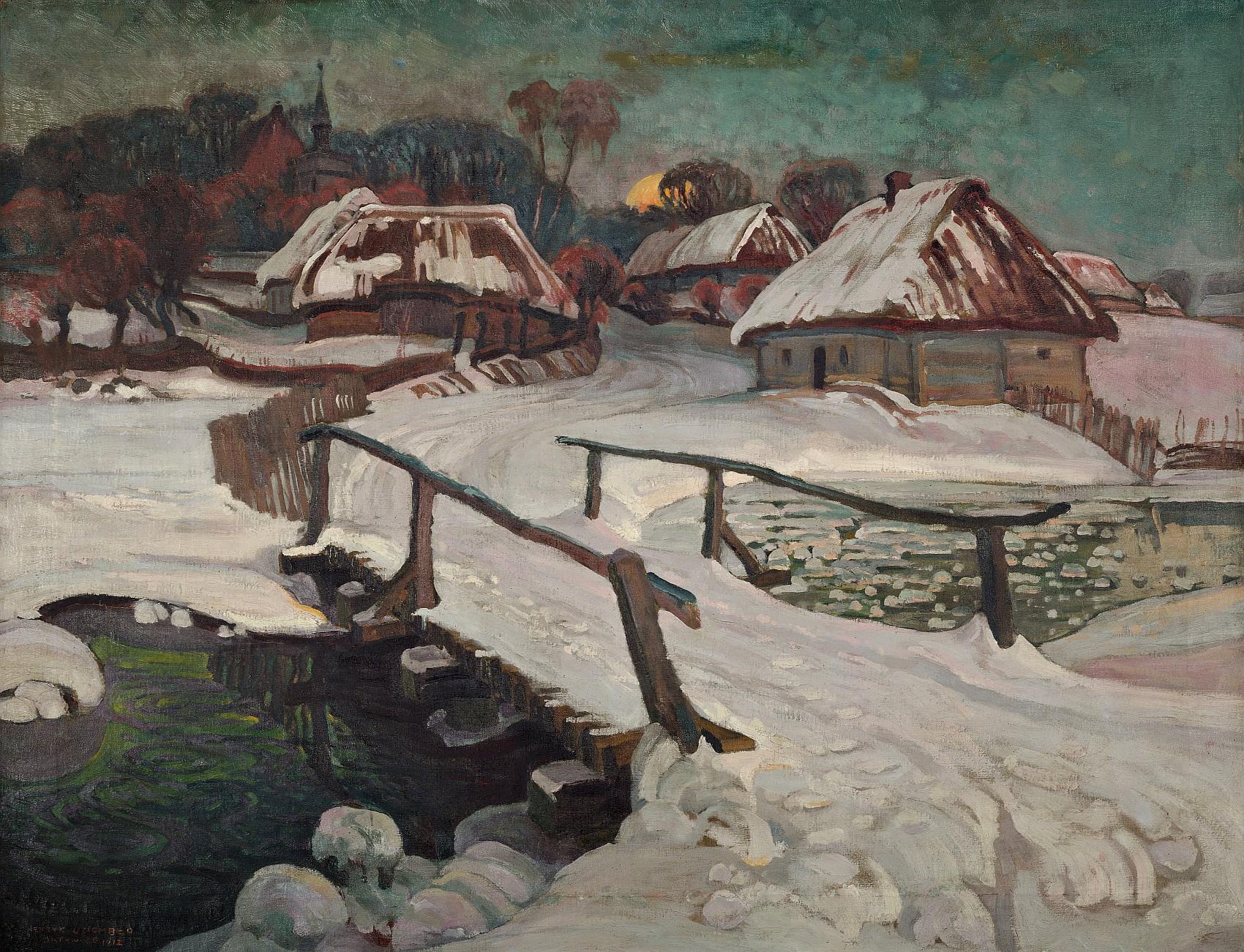 Zima w Batowicach, 1912