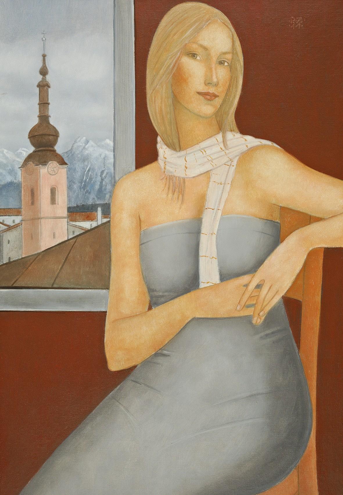 Portret kobiety z szalem, 2011