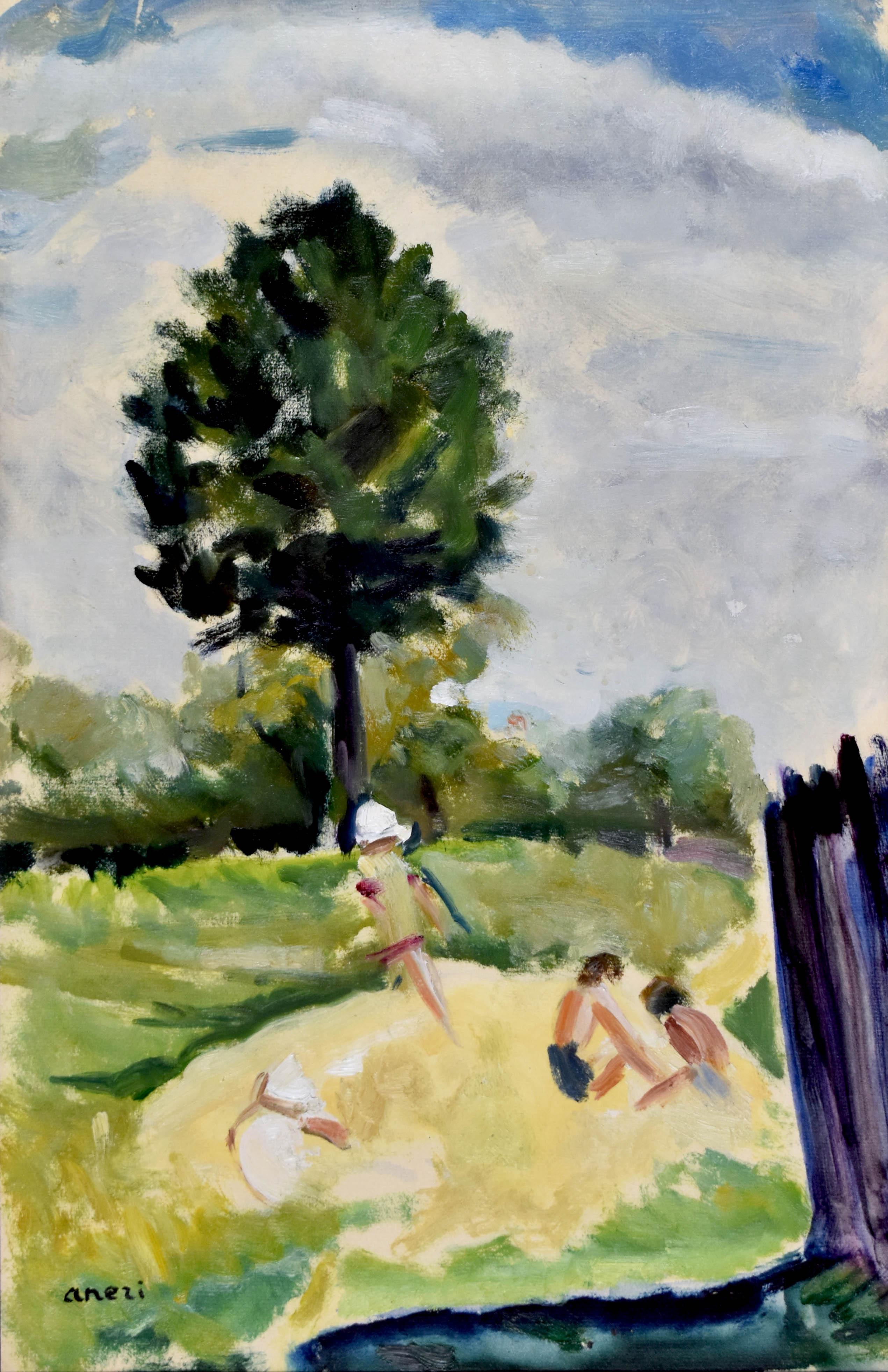 Dzieci w ogrodzie [Pejzaż]
