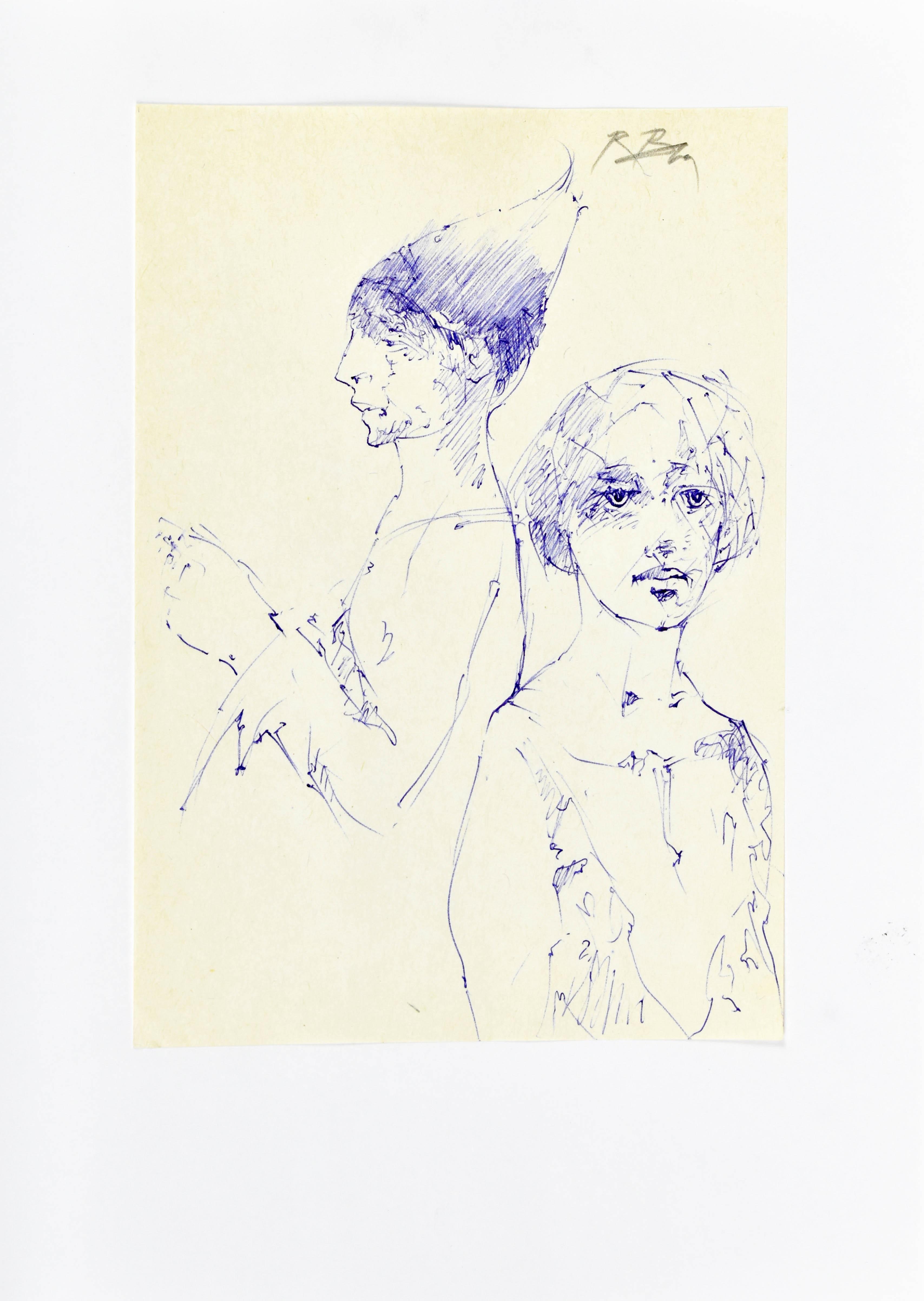Szkice dwóch postaci