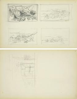 Miniaturowy zarys czterech kompozycji rodzajowych